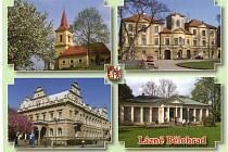 Pohlednice města Lázně Bělohrad.