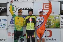 Po bojovém výkonu dojel Lukáš Kunt třetí (vpravo).