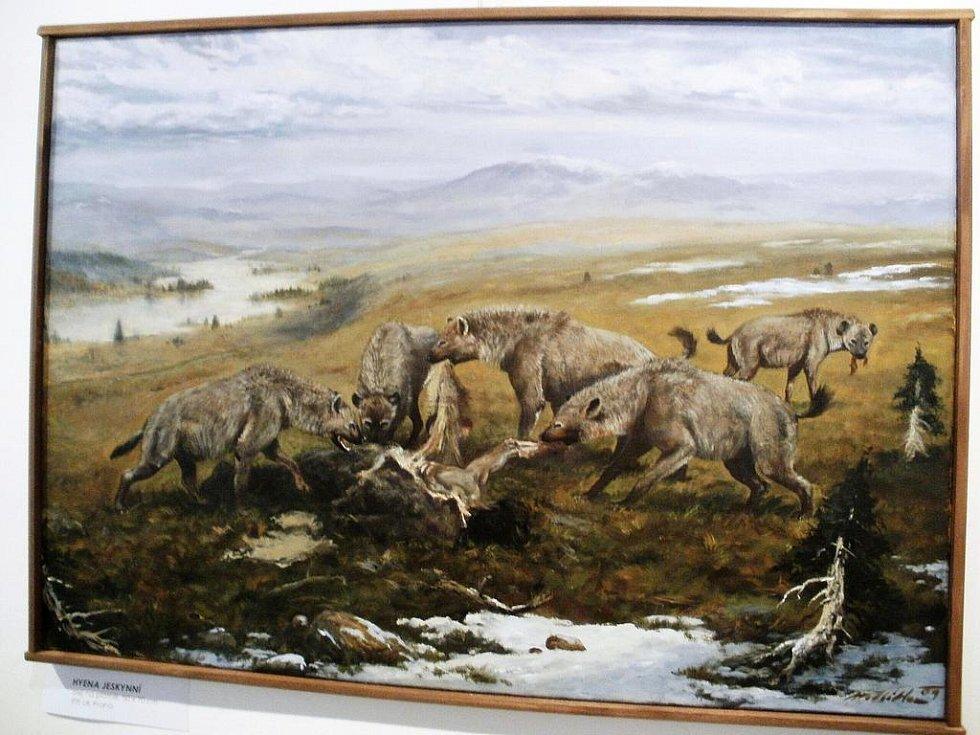 Z vernisáže výstavy obrazů Petra Modlitby.