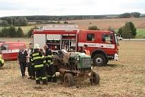 Zásah hasičů na konecchlumské traktoriádě.