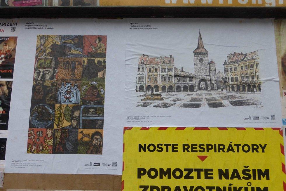 Setkání generací na plakátech v Jičíně.