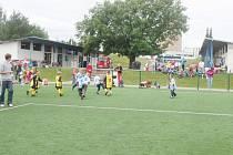 Z fotbalového turnaje mateřských škol.