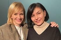 Martina Komárková (vpravo), jedna ze scénáristek filmu Božena.
