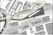 Návrhy možné nové podoby jičínského autobusového nádraží.