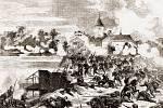 Boje v Jičíně na hrázi v roce 1866.