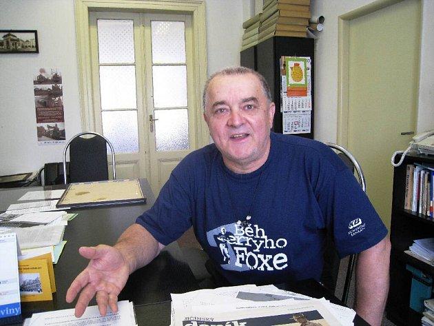 Výtvarník Břetislav Kužel.