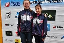 Dvě jedničky jičínského orientačního běhu – Dana Šafka Brožková (vlevo) a Anna Kochová.
