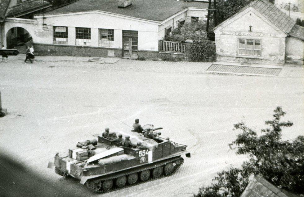 Jičín roku 1968, Šafaříkova ulice.