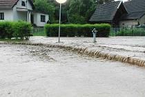 Záplava v Jinolicích.