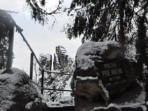 Prachovské skály v zimě