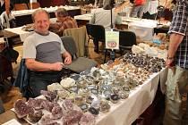 Výstava minerálů a šperků z nich vyrobených.