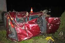 Těžkým zraněním mladého řidiče skončila dopravní nehoda v Lužanech.