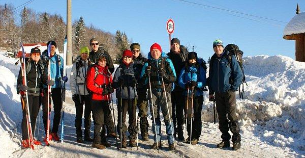 Ivan Pírko spřáteli na zimním putování.