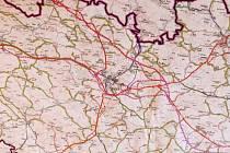 Plánovaná trasa obchvatu Valdic.