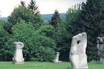 Sochy na kopci Gothardě.