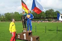Vítěz pětikilometrově trati domácí běžec Rudolf Cogan.