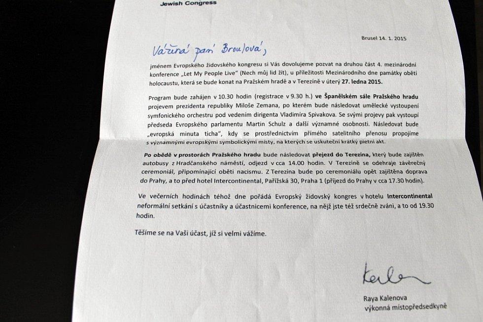 Pozvánka na konferenci do Prahy.