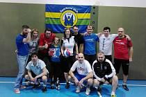 Účastníci turnaje ve vybíjené v Miletíně.