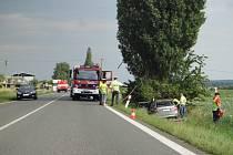 Jedna z tragických dopravních nehod u Vojic.