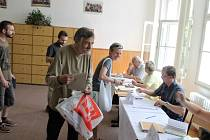 Začátek voleb do evropského parlamentu v Jičíně.