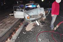 Střet dvou automobilů v Nové Pace.