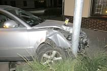 Nehoda passatu v Nové Pace.