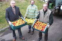 Čeští ovocnáři již tradičně každoročně darují jablka vybraným ústavům.