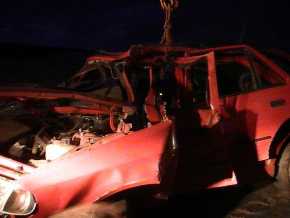 Z místa tragické nehody u Podhorního Újezdu.