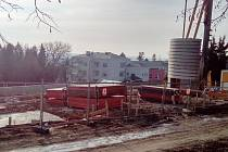 Stavba nového sídla LesůCR v Hořicích.
