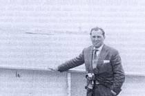 Lubomír Hromádka po příjezdu z Brazílie do Spojených států 21. května 1957.