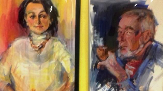 Lidé na plátně. Malíři vystavují portréty