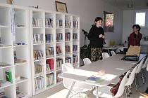 Knihovna v Holovousích.