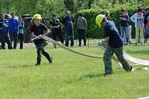 Z okrskové soutěže hasičů v Libunci.