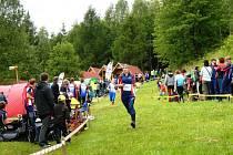 Na doběhu kvalifikace v Teplicích nad Metují jičínská běžkyně Nikola Zlámalová.