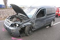 Nehoda u Chomutic.