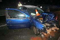 Nehoda fiatu u Vrchoviny.
