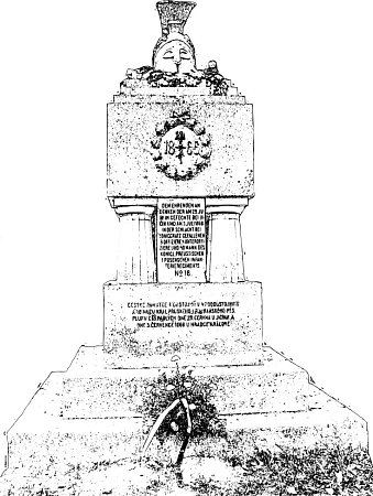 Pomník vojákům padlým ve válce roku 1866na Prachově.