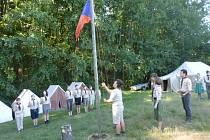 Skauti z Jičínska na skautském táboře v Netolicích.
