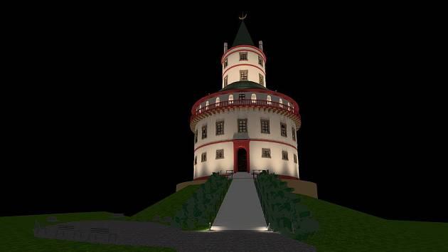 Zámek Humprecht čekají opravy včetně nového nasvícení.