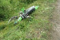Střet motocyklů u Mlýnce.