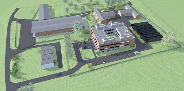 Projekt výstavby výzkumného ústavu.
