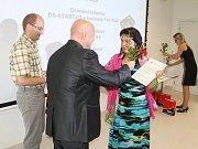 Z ocenění soutěže Student roku ve firmě Microrisc.