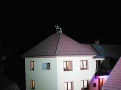 Požár sazí v domě v Úhlejově.