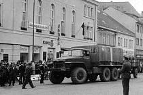 Rusové v Jičíně 1968: Husovka.
