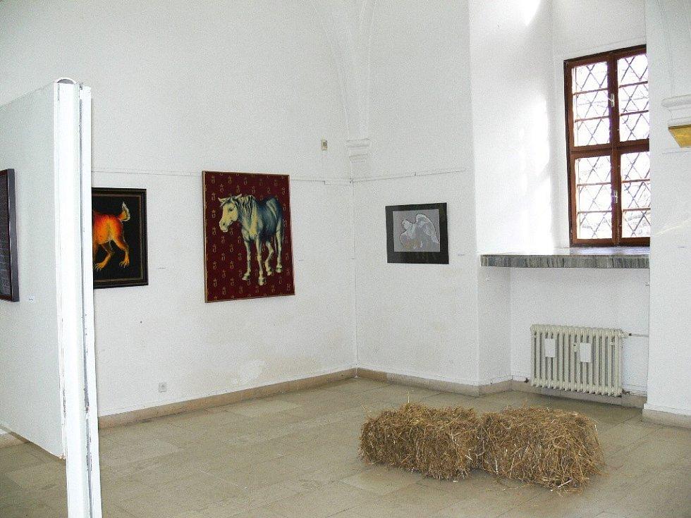 Z vernisáže jičínské výstavy Pokojíčky.