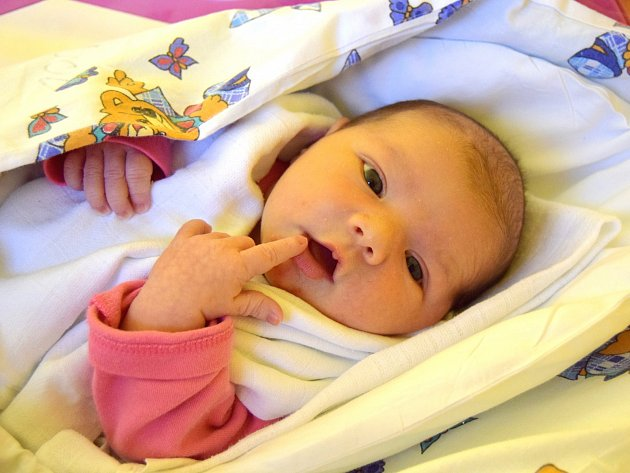Sára Němcová přišla na svět 5. ledna s porodní mírou 50 cm a váhou 3,18 kg. Z miminka mají radost rodiče Lucie Paroboková a Lukáš Němec, kteří si svoje štěstí odvezli domů do Jeřic.