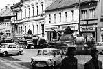 Rusové v Jičíně roku 1968.