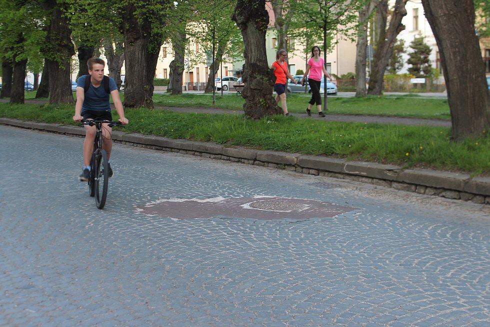 Československé armády. Ulice je součástí projektu přestavby kasáren.