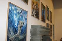 Výzdoba Porotního sálu obrazy Michaila Ščigola.