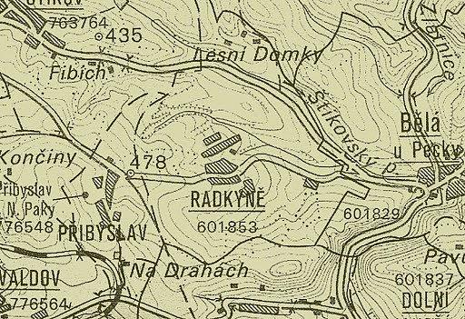 Radkyně na historické mapě.